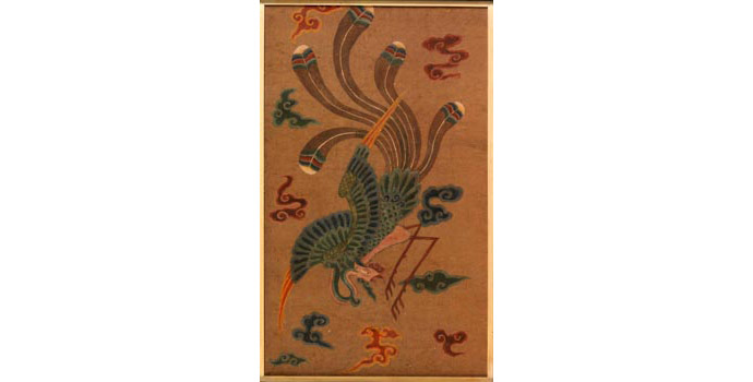 Symbolic Bird, China - Painting on parchment, 54.5 x 90.5 - 2002.022B/PA102B