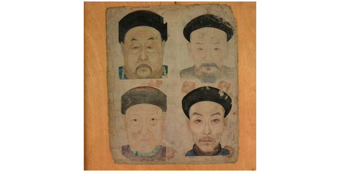Four Chinese Gentlemen, China - Painting on Paper - 2002.025/PA164