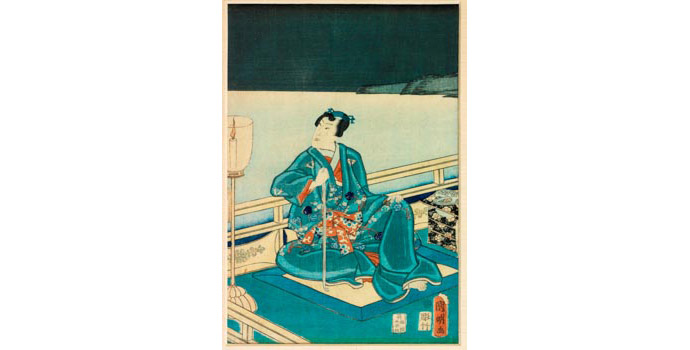 Evening Scene, Utagawa Kuniaki (1835-1888), Japan - Woodblock print 41.8 x 24.4 - 2002.035/PA158