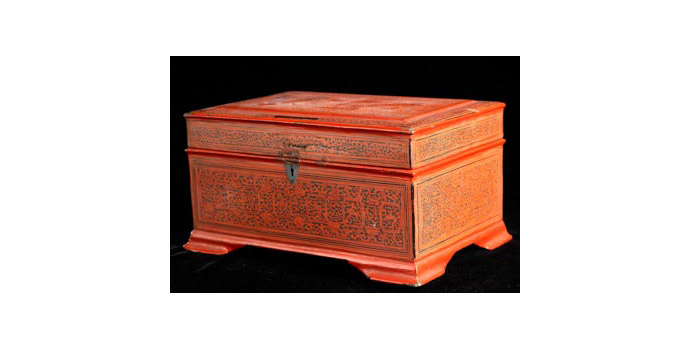 Box, Thailand - Red Lacquer - 2002.078/CM96