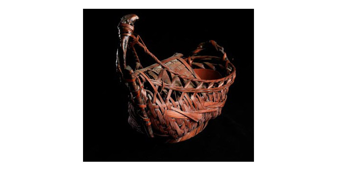 Basket in shape of Sampan, Japan - Flower container - 2002.298/B7