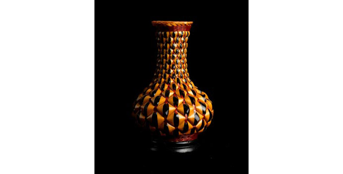 Basket - Basket work enclosed, China vase - 2002.323/B5