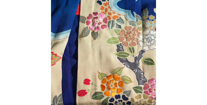 Bridal Kimono (detail), Japan - Dyed silk - 2004.052/CO10