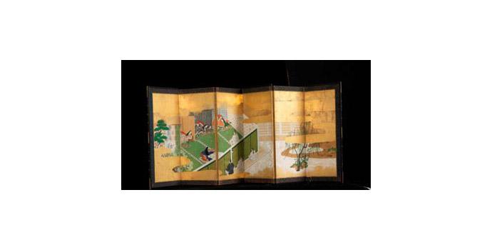 Tea Screen, Japan - Wood, Paper, Paint - 2006.010/PA137