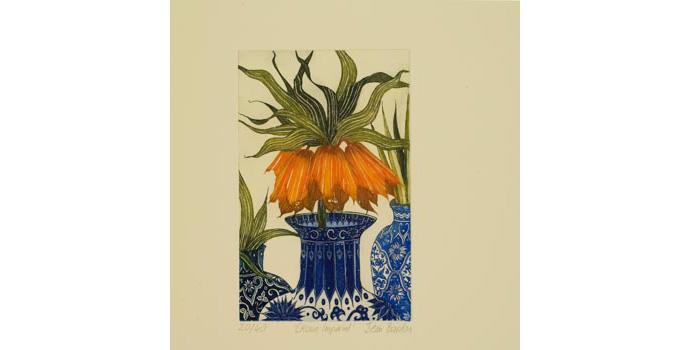 Jean Bardon (1952-), Crown Imperial, 2001. Colour etching 20/40, 20 x 13 cm, WCSAI 2006