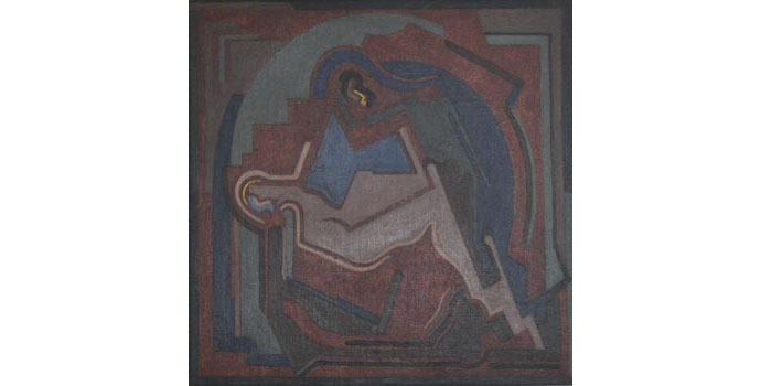 Mainie Jellett (1897-1944) Pieta, 1940 oil on canvas 74 x 74 cm IACI.