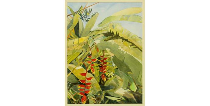 Nancy Larchet, Malaysia Memories, 1991. Watercolour on paper, 60.5 x 44.5 cm, WCSI.1991