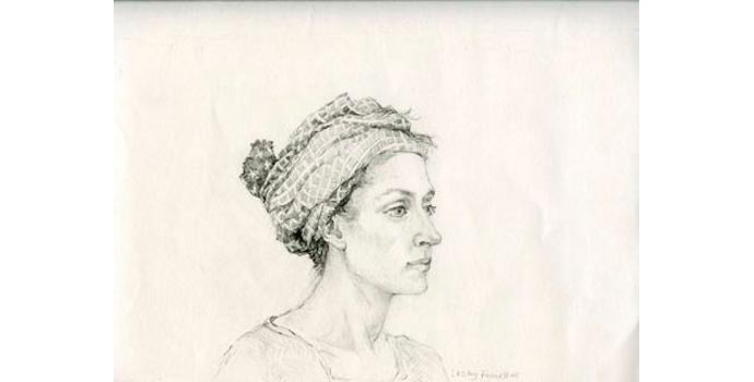 Lesley Fennell (1943-), The Knotted Scarf, 2005. Pencil on paper, 21.5 x x27 cm, WCSAI 2006