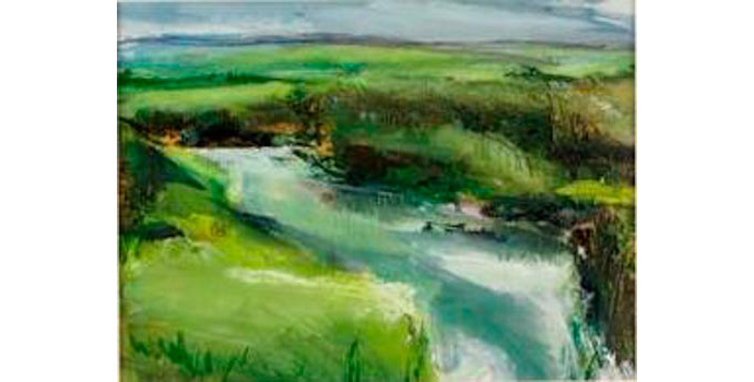 Mary Canty (1949-), North Mayo River 2005. Watercolour and mixed media on paper, 24.5 x 33 cm, WCSAI 2006