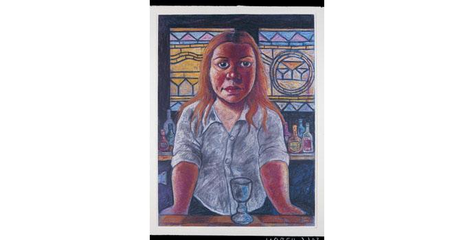 Rosie McGurran ARUA, Three Spills 2010. Watercolour on paper 78 x 61cm, NSPCI.2010.445