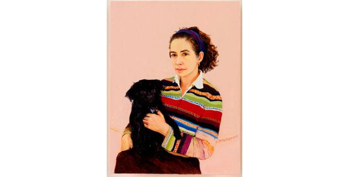 Cathy Callan (1969-), Untitled, 2008. Oil on board 21.5 x 15cm, NSPCI.2008.422.