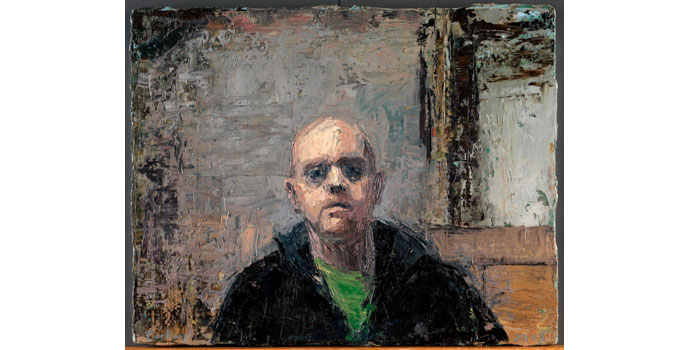 Donald Teskey (1956-), Self Portrait no. 1, 2008. Oil on canvas 30 x 40cm, NSPCI.2008.424.