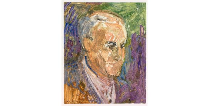 Liam Roberts (1941-), Self Portrait, 2003. Gouache 23.5 x 19cm, NSPCI.2008.426.