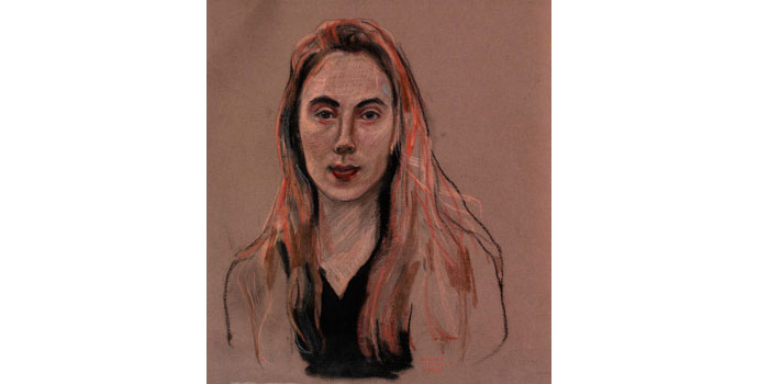 Margaret Corcoran (1963-), Untitled. Charcoal and pastel on paper, 37 x 32cm. NSPCI.2008.423.