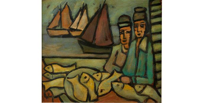 Markey Robinson (1918-1999), Markey and May. Gouache on board 53 x 46cm, NSPCI.2008.427.