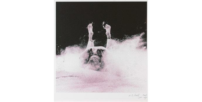 Nigel Rolfe (1950-), Falling Down, 2008. Photograph / giclee print on 280gms somerset paper, NSPCI.2008.428.