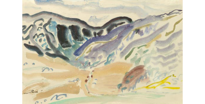 Nano Reid (1905-1981) Valley Desmond, Gaugan Barra, 1949 watercolour on paper 24 x 26.4 cm IACI.2003.026