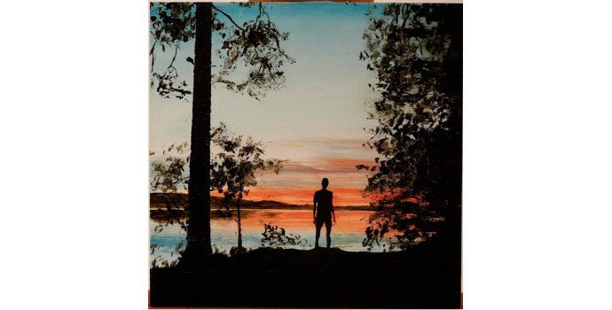 Oliver Comerford, Summer Night, 2008. Oil on MDF panel 30 x 30.6 cm, NSPCI.2012.462.