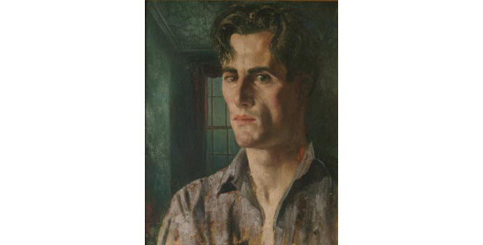 Patrick Hennessy (1915-1980) Portrait of Denis William Hamilton Hurley, 1945 oil on canvas 43.2 x 35.6 cm IACI.2003.031