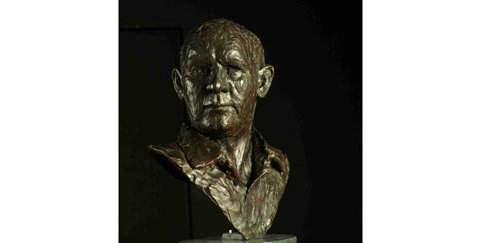 Paddy Campbell (1942-), By Myself, 2009. Bronze on granite base 56 x 37 x 25cm, NSPCI.2009.431.