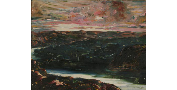 Robert Burke (1901-1991) Morning over Waterford, 1943 oil on canvas 70 x 89.5 cm IACI.