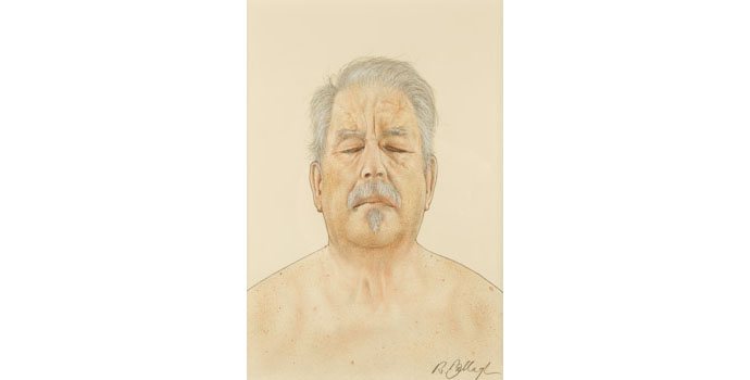 Robert Ballagh (1943-), Self Portrait Study 1, 2010. Pencil, watercolour & gouache on paper 54 x 36 cm, NSPCI.2011.448.