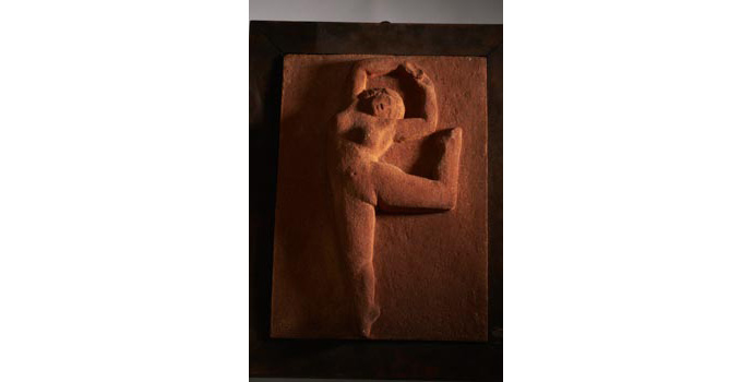 S105 IACI.2002.098 Pierre Boujet Sculpture Dancing figure France 32.1 x 23 x 7.5 cms Terracotta