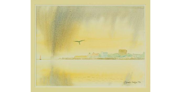 Simon Legge (1937-), Untitled. Watercolour on paper, 29.5 x 39 cm, WCSI.1998