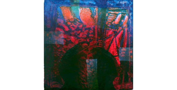 Coilin Murray, Canto Kalyani, 2009, etching, 42 x 42 cm