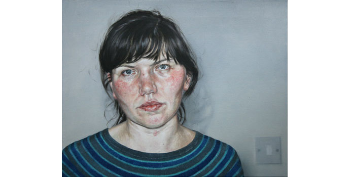 Vera Klute, Self Portrait, 2012. Oil on canvas 40.9 x 50.9 cm, NSPCI.2012.465.
