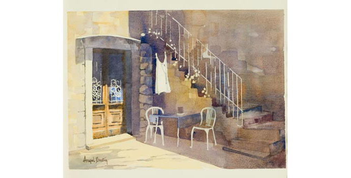 Angel Bruton (1938-), Open at eight, 2005. Watercolour on paper, 25 x 35.5 cm, WCSAI 2006