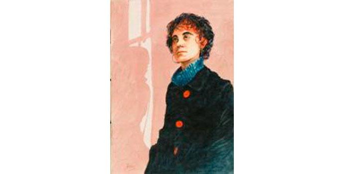 Jim Doolan (1943-), Jessica 2006. Watercolour on paper, 39.5 x 29.5 cm, WCSAI 2006
