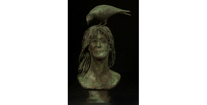 Catherine E Greene, Self Portrait, 2010. Bronze, NSPCI.2010.442