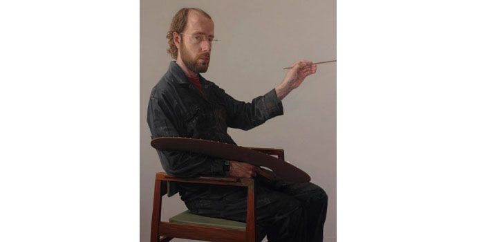 Comhghall Casey - Self-Portrait 2011 Oil on Linen 105 x 85cm, NSPCI.2014.483.