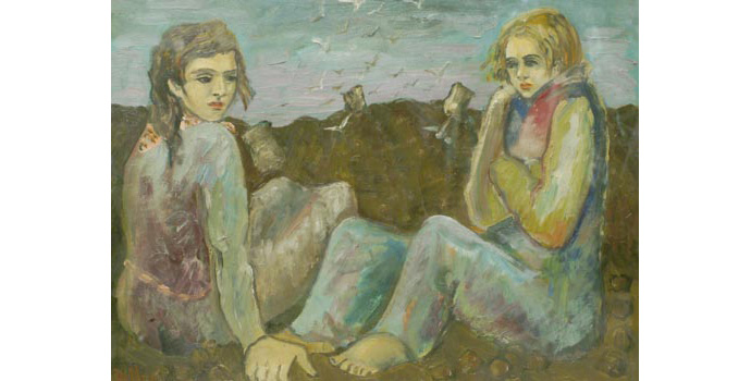 Gerard Dillion (1916-1971) Potato Pickers, 1940 oil on canvas 44 x 59 cm IACI.2003.001