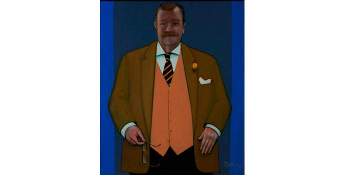 George Potter R.H.A - Self-Portrait 2012 Oil on Canvas 120 x 100cm, NSPCI.2014.492.