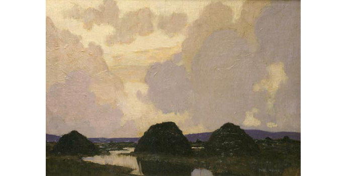 Paul Henry (1876-1958) Turf Stacks on the Bog, c.1920 oil on canvas 33.2 x 49.2 cm IACI.2003.002