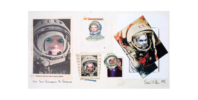 Séan Hillen - Five Self-Portraits as Gagarin. 1992, Photocollage 19 x 36cm, NSPCI.2014.490